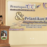 Pelantikan Pramuka dan PMR MA Nurul Jadid