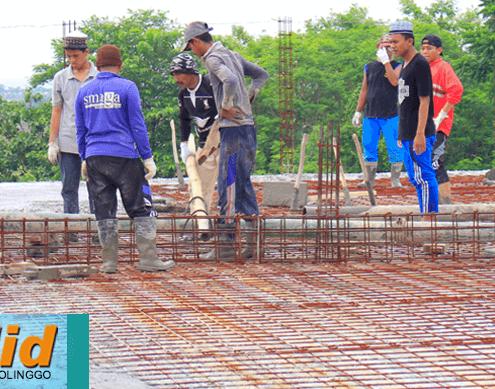 Pengecoran Atap Lantai III Masjid Jami' Nurul Jadid Hampir Segera Rampung