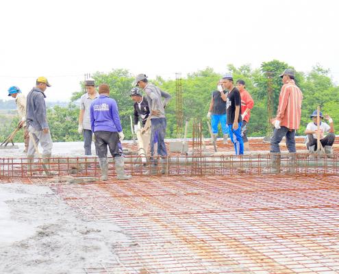 Perkembangan Pembangunan Masjid Jami' Nurul Jadid Tahun 2018
