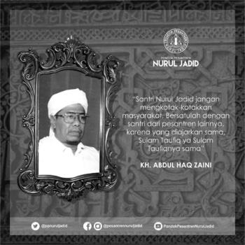 Kata mutiara Alm. KH. Abdul Haq Zaini