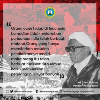 Kata Mutiara Alm. KH. Zaini Abdul Mun'im