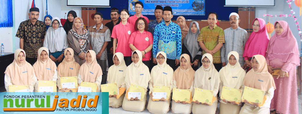 24 Siswa SMA Nurul Jadid dapat Beasiswa dari Pusat Bahasa Mandarin UNEMA