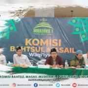 Komisi Bahtsul Masail Muskerwil I PWNU Jatim di PP. Nurul Jadid